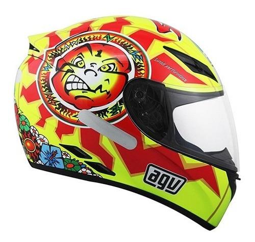 capacete agv k3 sun moon valentinorossi tam 61-62