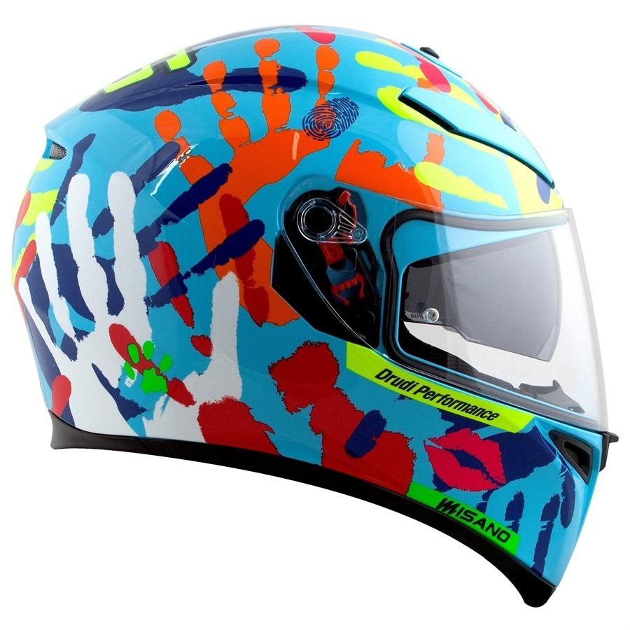 capacete agv k3 sv misano 14 valentino rossi vr46 + pinlock. Carregando  zoom. 037bf414aafec