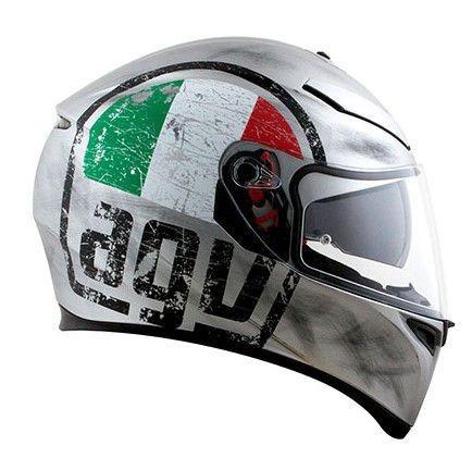 capacete agv k3 sv scudetto matte silver 60