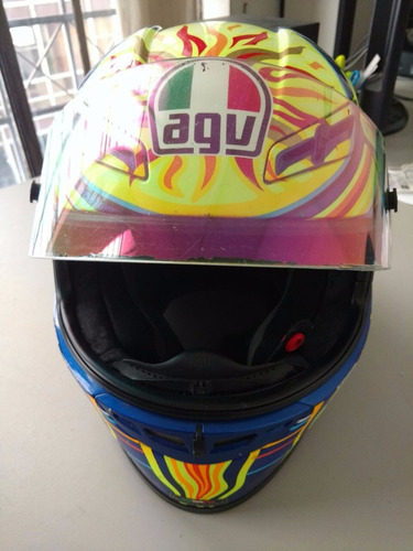 capacete agv tech 5 continents do valentino rossi
