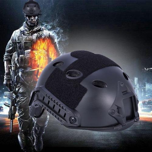 capacete airsoft paintball preto emerson