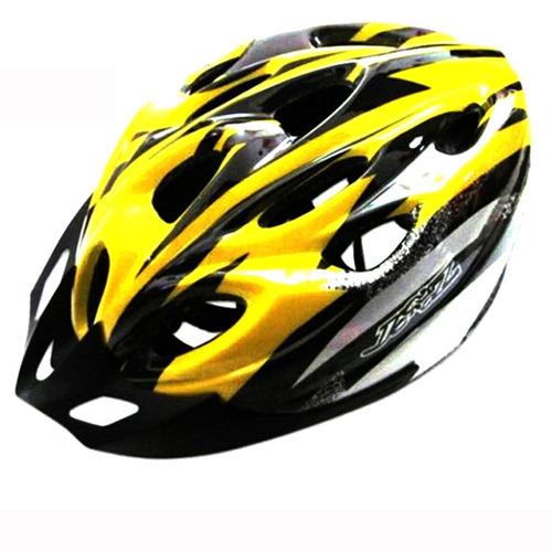 capacete amarelo unissex bike ciclismo bicicleta - no brasil
