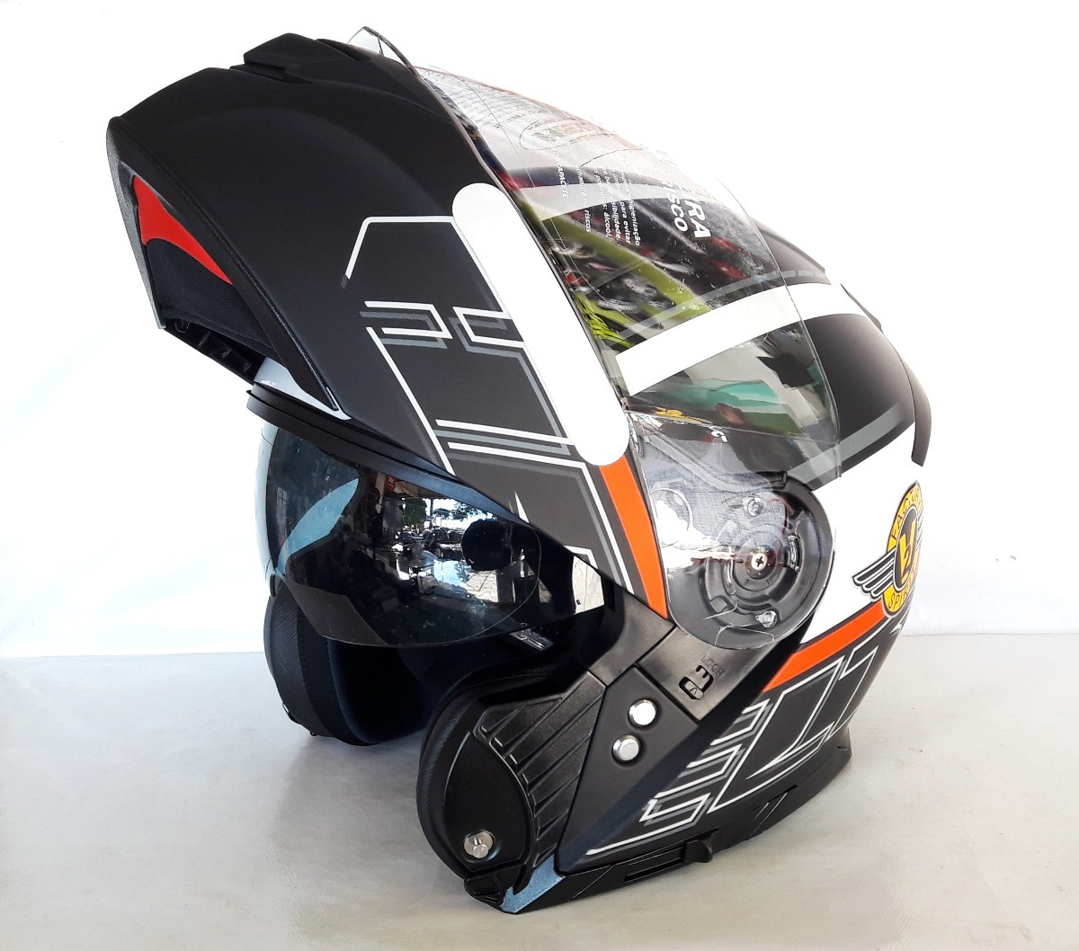 capacete articulado hippo glass spirit 62 com óculos interno. Carregando  zoom. 889017762de