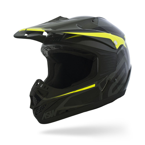capacete asw factory fluor 17 motocross off road