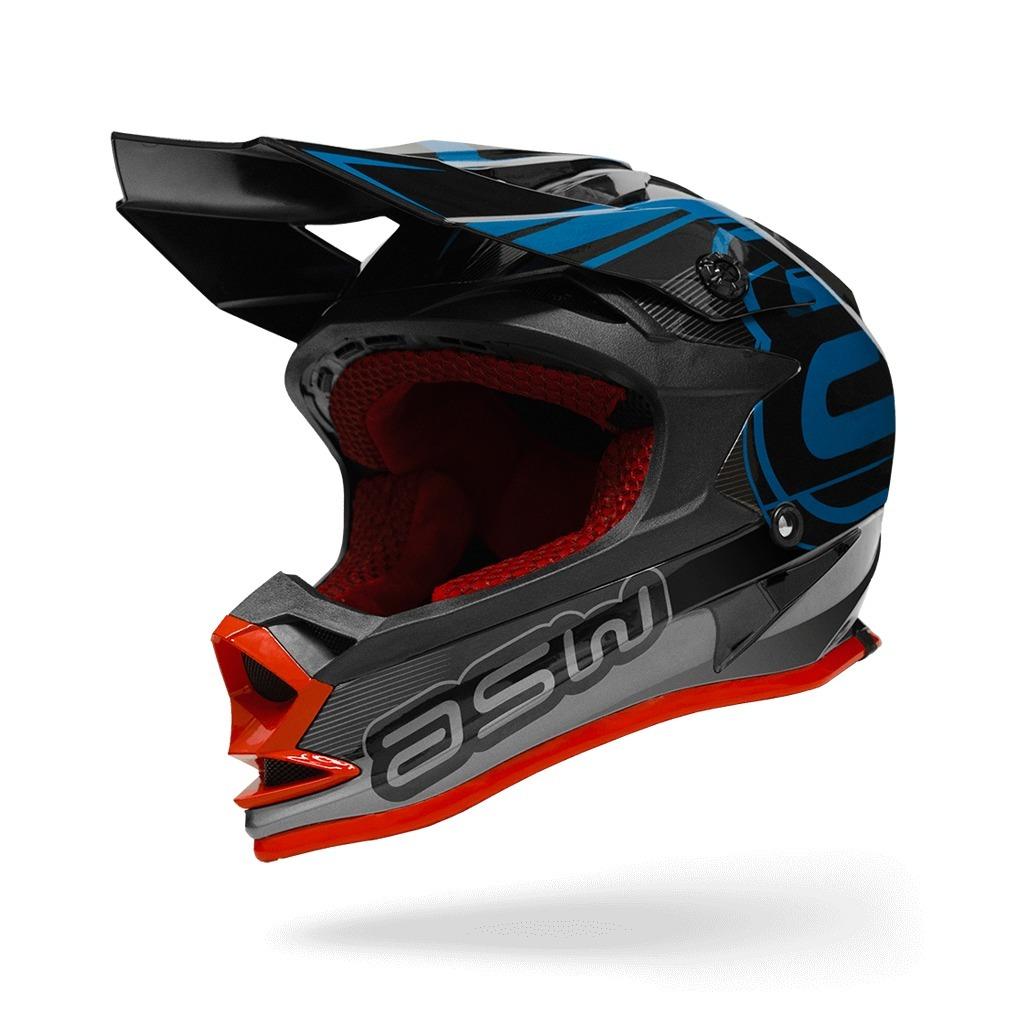 4c3995ce3 Capacete Asw Fusion 17 Preto - Mx Cross Trilha Bike - R$ 689,00 em ...