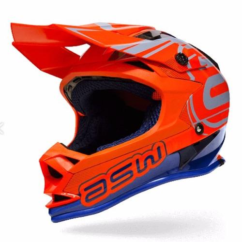 capacete asw fusion 2017 +oculos motocross trilha lançamento