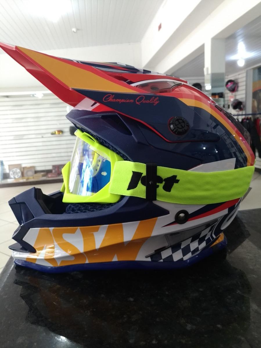 6c9809fdf07bc capacete asw +oculos espelhado-promoção-motocross trilha. Carregando zoom.