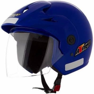 capacete atomic 56 58 60 preto azul vermelho amarelo prata