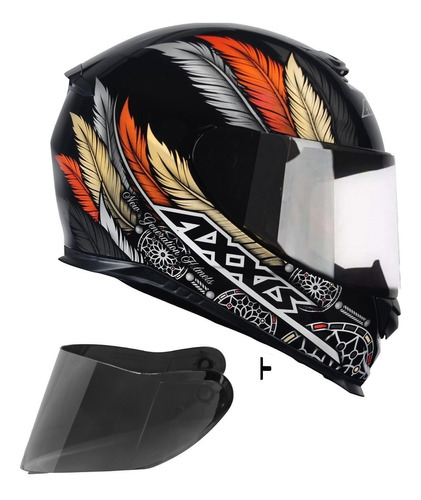 capacete axxis by mt dreams ocre brilhante + viseira fume