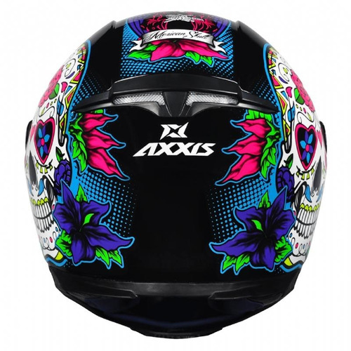 capacete axxis by mt skull caveira azul lançamento