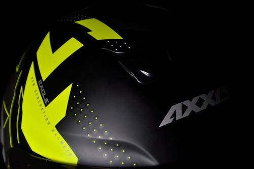 capacete axxis eagle diagon preto amarelo fosco novidade