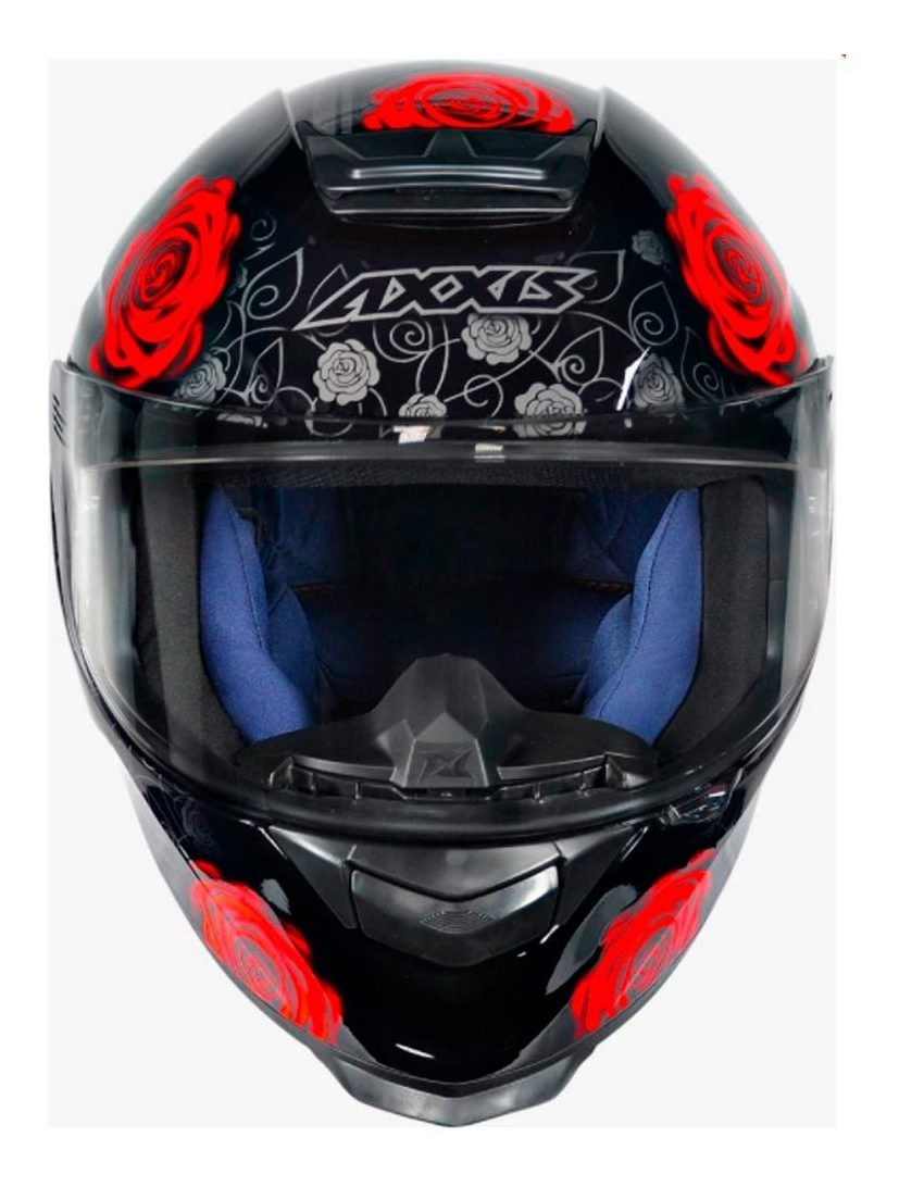 Primu S Moto Parts Capacete Axxis Eagle Evo Flowers Gloss Black Red R 549 00