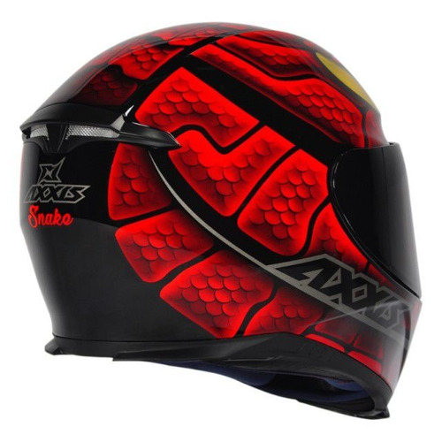 capacete axxis eagle snake black-red