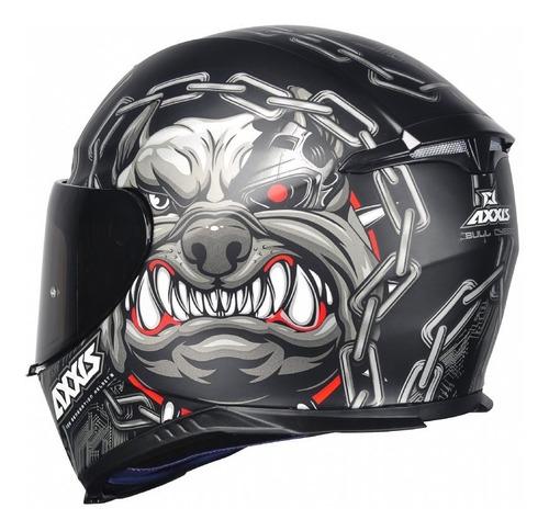 capacete axxis mt bull cyber preto fosco cachorro robô