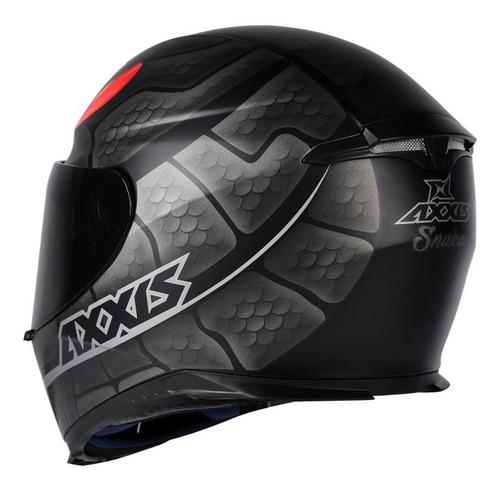 capacete axxis snake preto fosco serpente + viseira extra