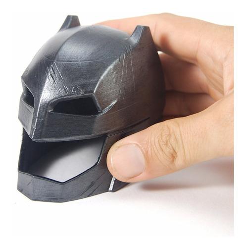 capacete batman x superman 7,5cm pintura idêntico ao filme