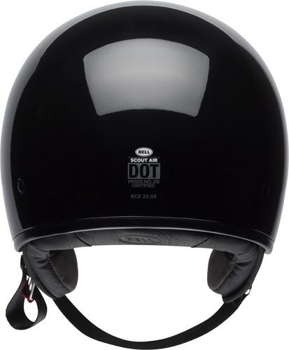 capacete bell coquinho custom scout air peso 750g preto glos