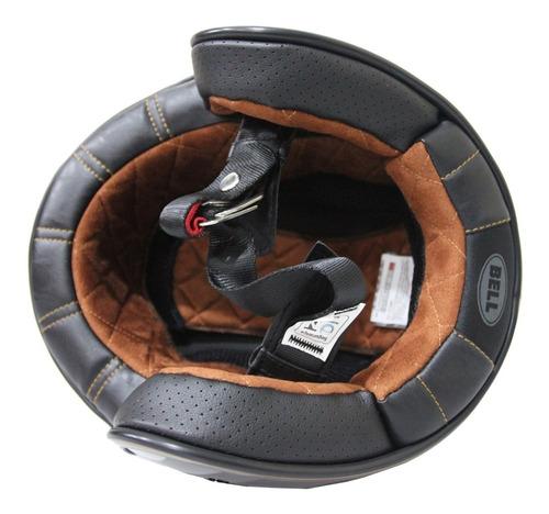 capacete bell custom 500 rally preto/bronze edição especial