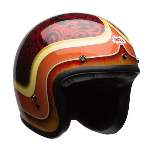 capacete bell custom500 hart luck vermelho preto 56