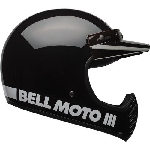 capacete bell moto 3 preto brilhante classic tam 58