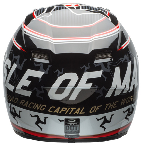 capacete bell qualifier dlx isle of man black red