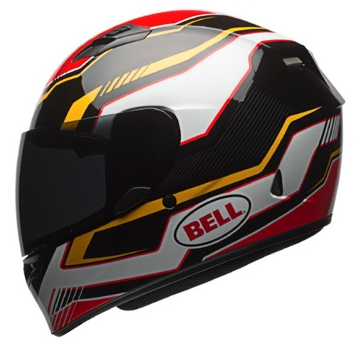 capacete bell qualifier  red black