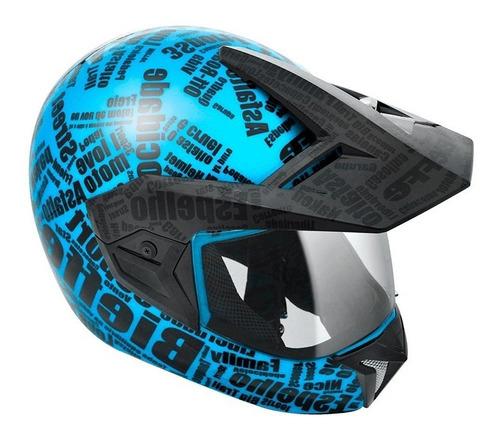 capacete bieffe 3 sport mirror - ciano/pto