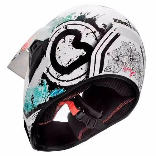 capacete bieffe 3 sport spring branco/azul