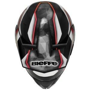capacete bieffe 3 sport thunder preto/vermelho