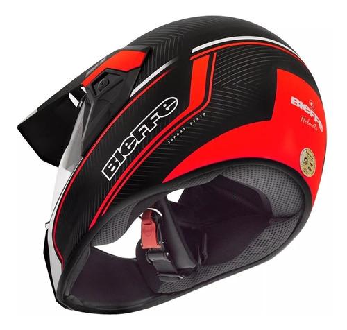 capacete bieffe lançamento stato preto/verm.