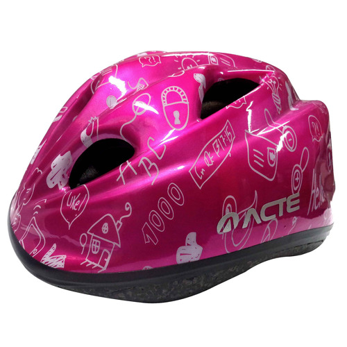 capacete bike ciclismo bicicleta regulável kids acte a50-rs