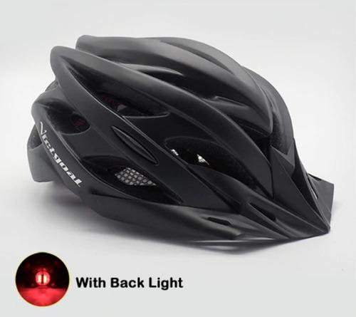 capacete bike ciclismo com luz led qualidade profissional
