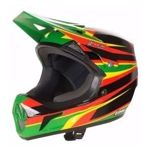 capacete bike downhill hupi dh2 verde tam g black friday