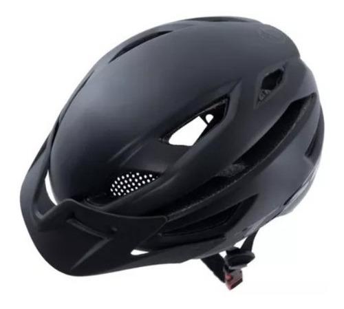 capacete bike tsw enduro mtb m/g 54-59cm preto fosco
