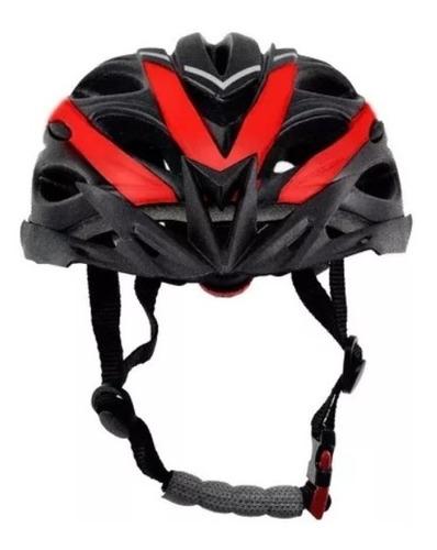 capacete bike tsw tune mtb m/g 57-60cm preto/vermelho