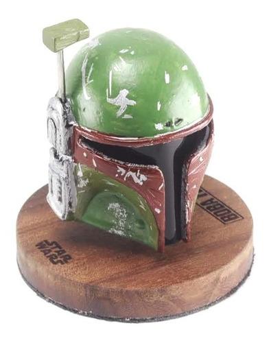 capacete boba fett star wars - miniatura 8,5cm x 7cm