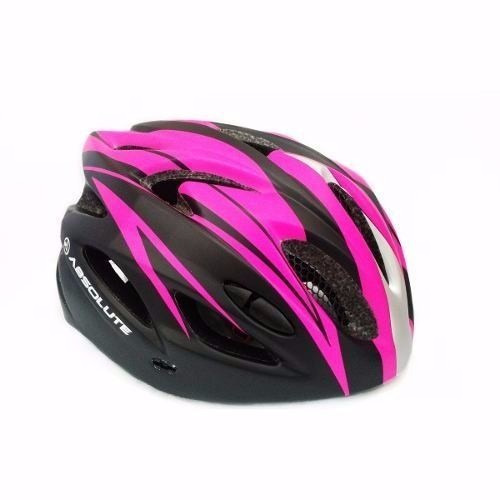 capacete ciclismo bike absolute nero wt012 led rosa pink m