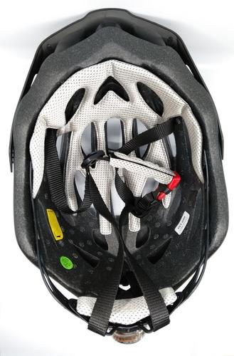 capacete ciclismo bike absolute wild led pisca preto fosco g