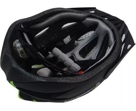 capacete ciclismo bike absolute wt012 led pisca neon tam m g