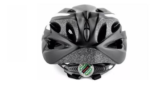 capacete ciclismo bike sinalizador led absolute preto