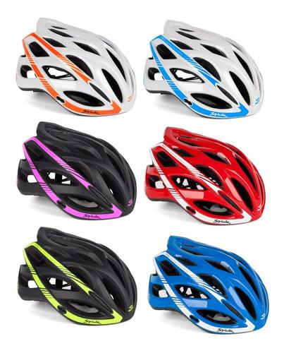 capacete ciclismo bike spiuk keilan branco e azul