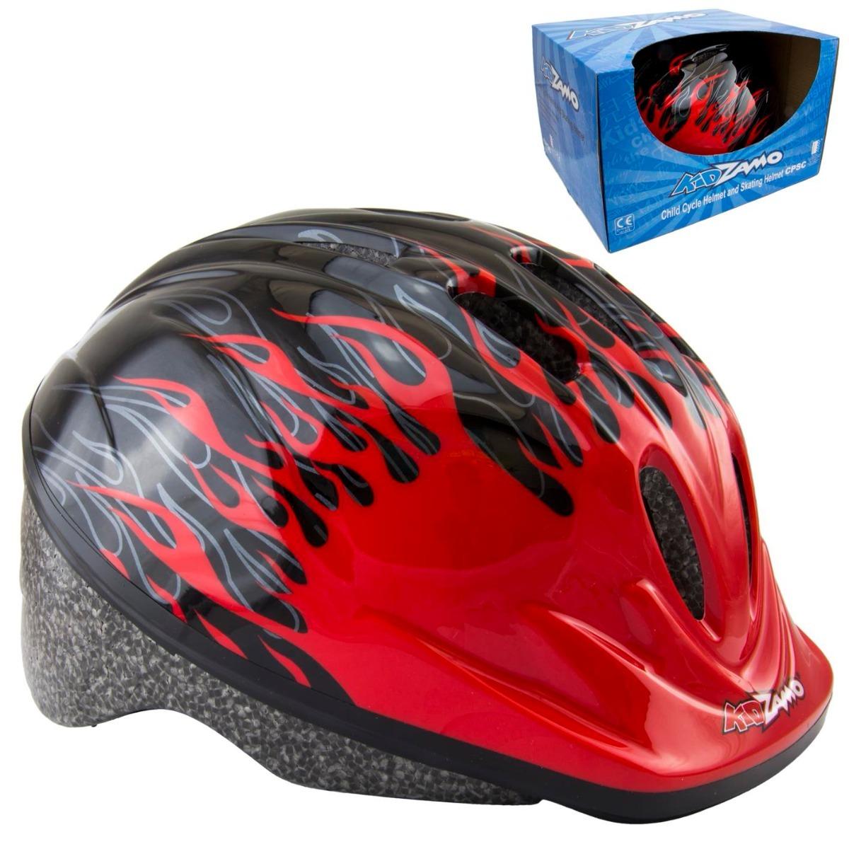 cbf83d70c capacete ciclismo infantil kz-008 chamas vermelho bike. Carregando zoom.