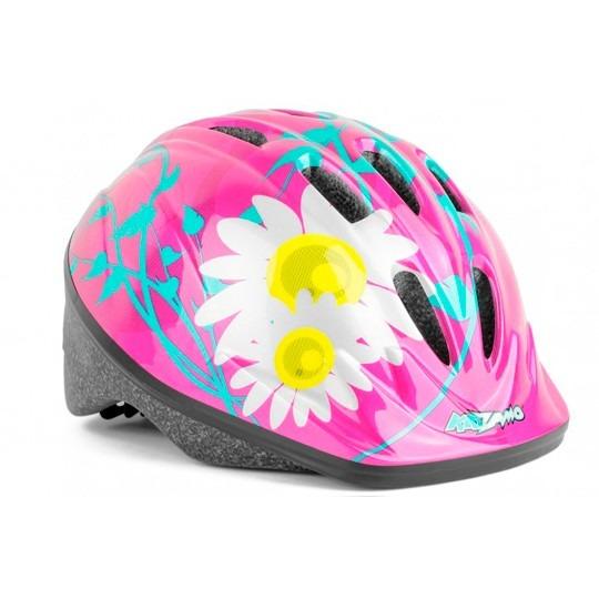 7107c1478 Capacete Ciclismo Infantil Kz-008 Flores Rosa - R  81