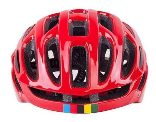 capacete ciclismo mountain bike road 52-58 vermelho