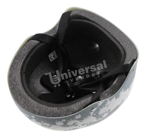 capacete cinza para esportes belsports 56cm circ interna
