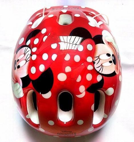 capacete com ajuste de tamanho disney minnie mouse dtc 4071