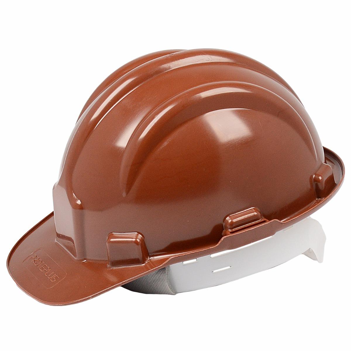 Capacete Com Carneira Proteção Epi Obra Marrom Construção - R  15,51 ... 7ffe0e3db8
