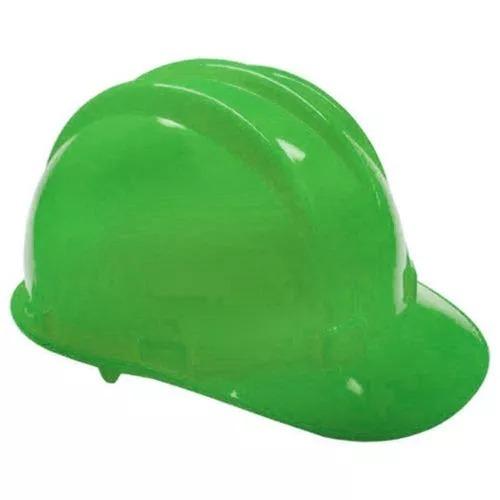 3db809cac454b Capacete Com Carneira Segurança Proteção Obra Verde Epi - R  16
