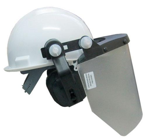 a172a93d95246 Capacete Com Protetor Facial E Abafador - C  Ca - Ledan - R  87