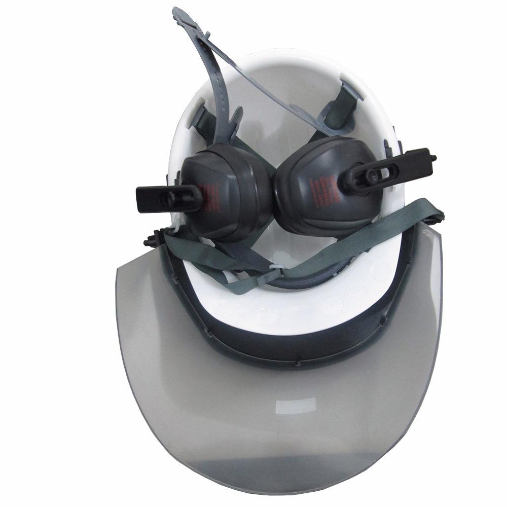 5934b4c06b7e4 capacete com protetor facial e abafador - c  ca - ledan. Carregando zoom.